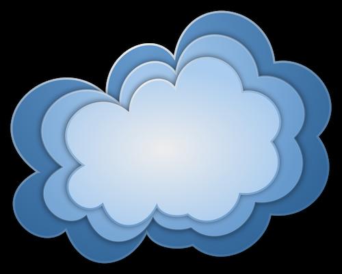 Trzy nternet chmury wektorowych ilustracji.