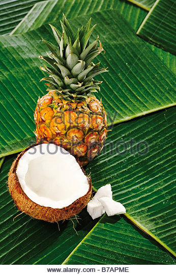 Tropical Fruits Banana Ananas Stock Photos & Tropical Fruits.