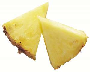 Pineapple chunk clipart.