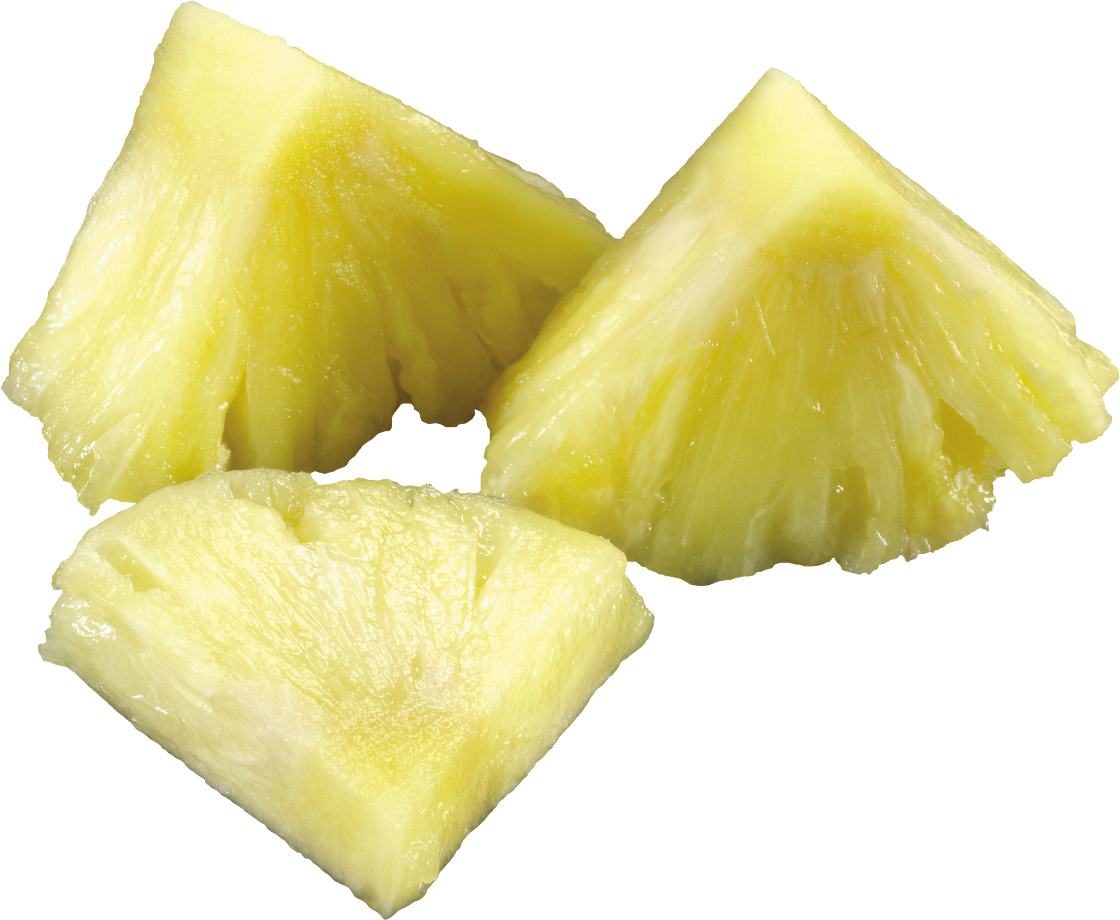 Pineapple chunks clipart.