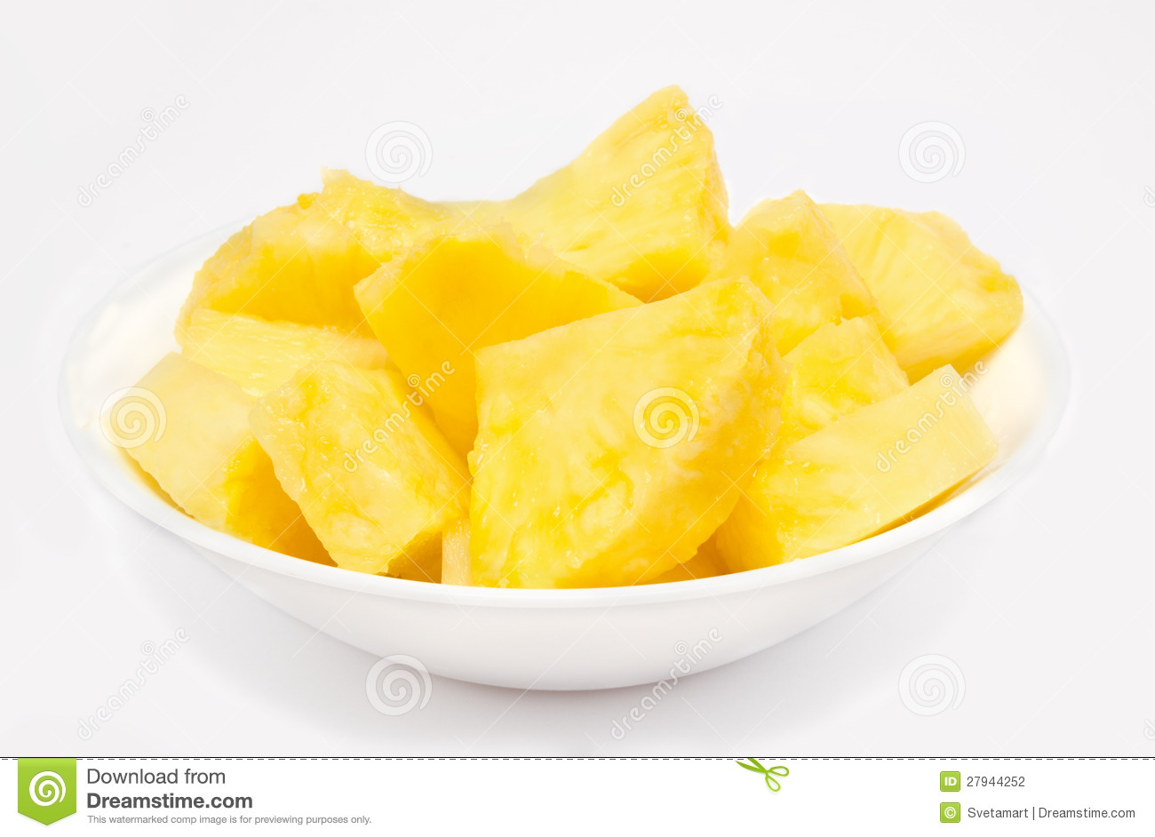 Fresh Pineapple Chunks Stock Photos, Images, & Pictures.