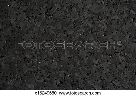 Stock Photography of Rubber flooring made from chunks of recycled.