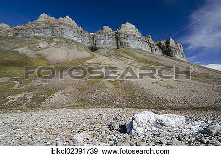 "Stock Photograph of ""Chunk of gypsum lying near the old gypsum."