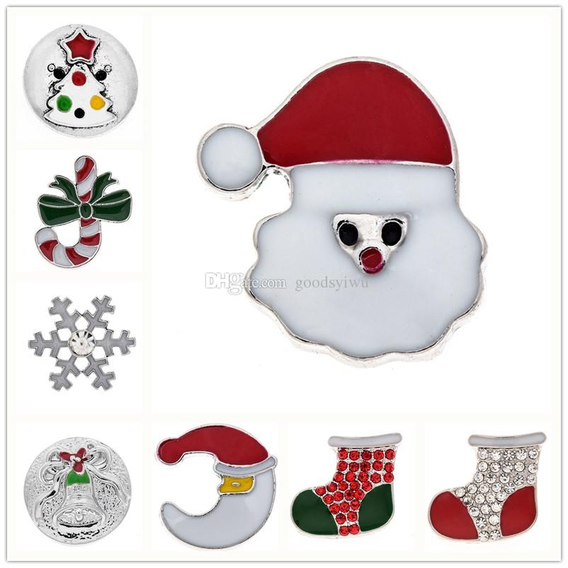 2017 Fashion Hq Noosa 18mm Xmas Snap Buttons Snowmen Stockings.