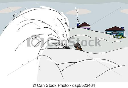 EPS Vector of Throwing Snow.