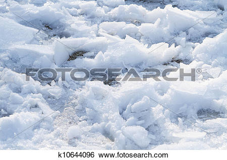Stock Images of Chunks of Snow and Ice Walked On k10644096.