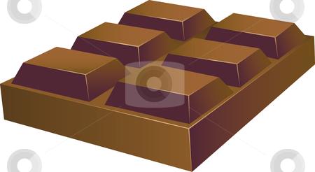 Chunky Chocolate stock vector.