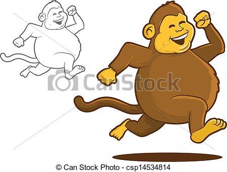 Vector Clip Art of Chunky Monkey.