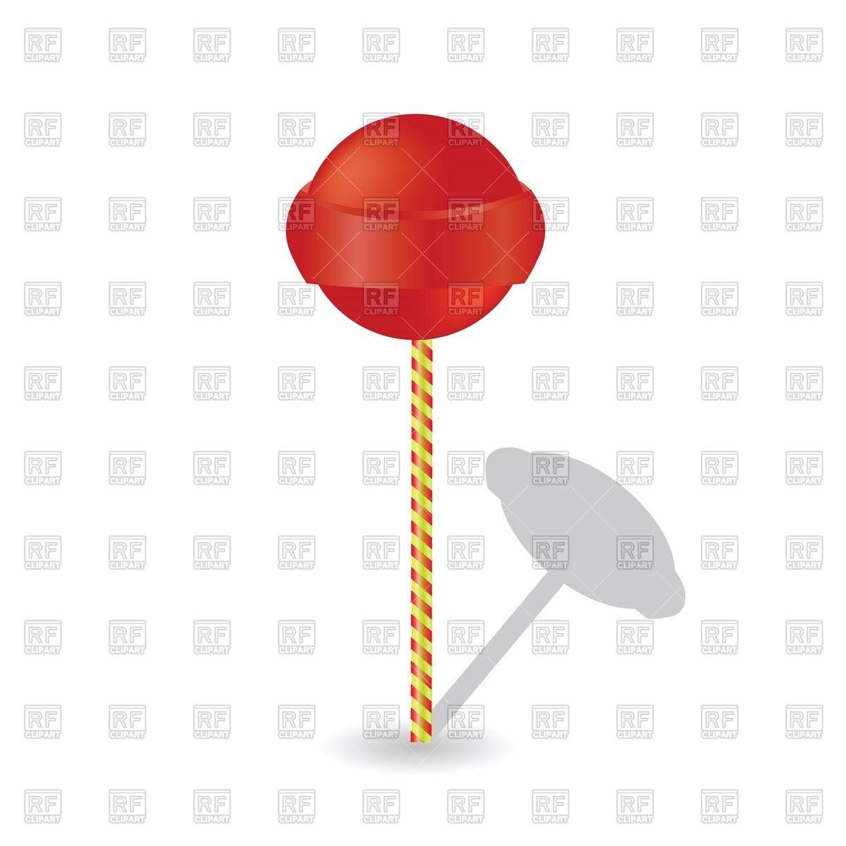 Red lollipop (Chupa Chups) Vector Image #44319.