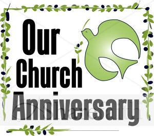 Our Church Anniversary Clipart.