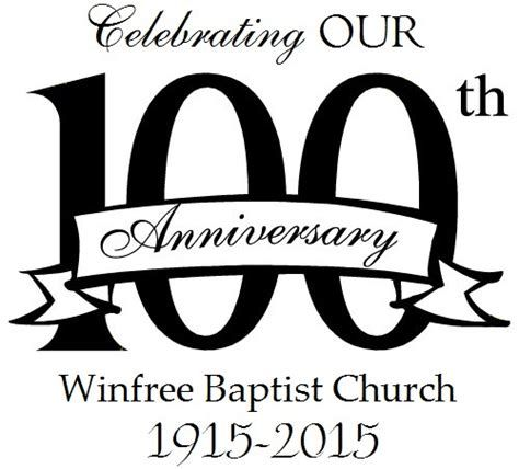 100th Church Anniversary Clipart (3+).