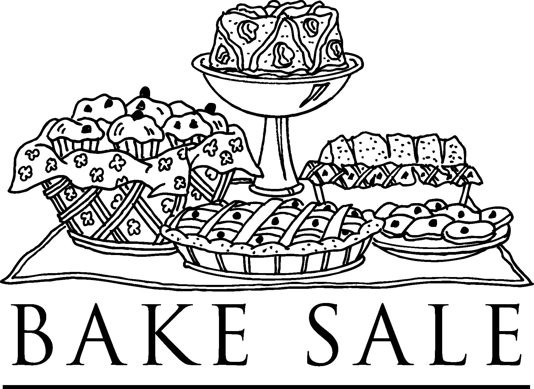Bake sale free church yard sale and bake signs clipart.