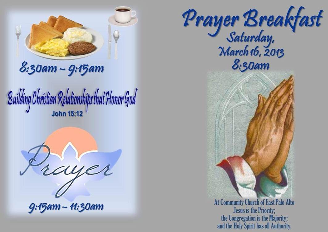 Prayer Breakfast Cliparts.