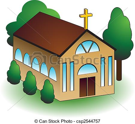 Church building Stock Illustration Images. 7,690 Church building.