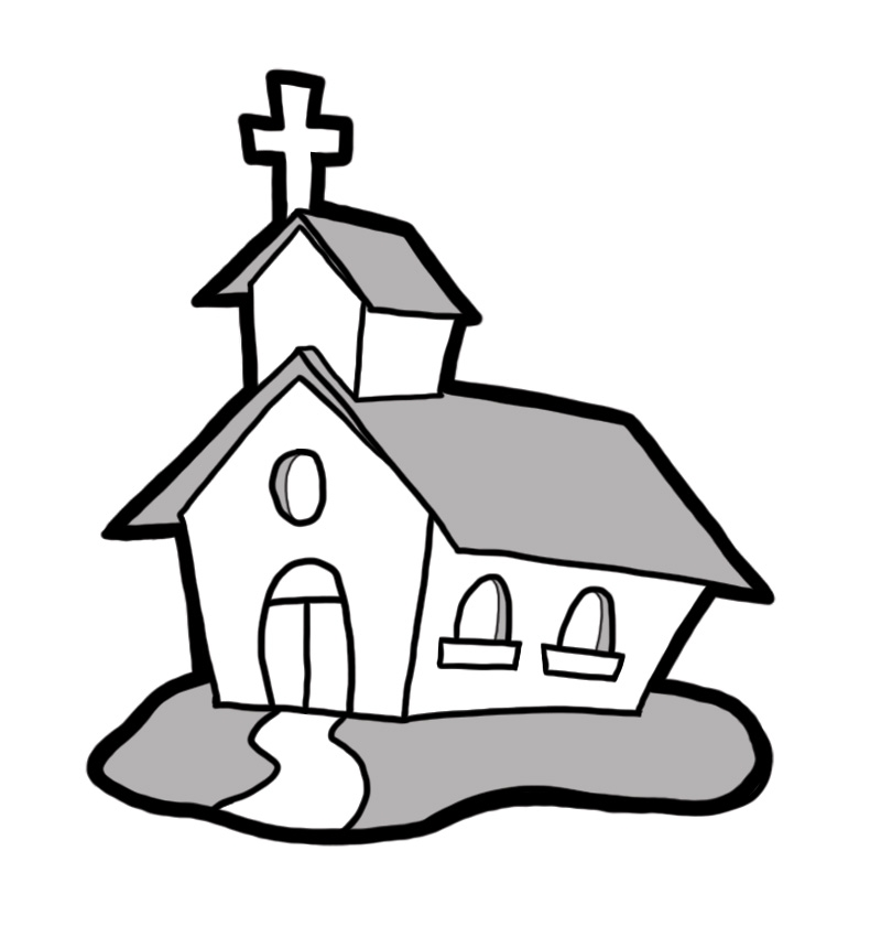 Barn Church House Black And White Clipart Clipground