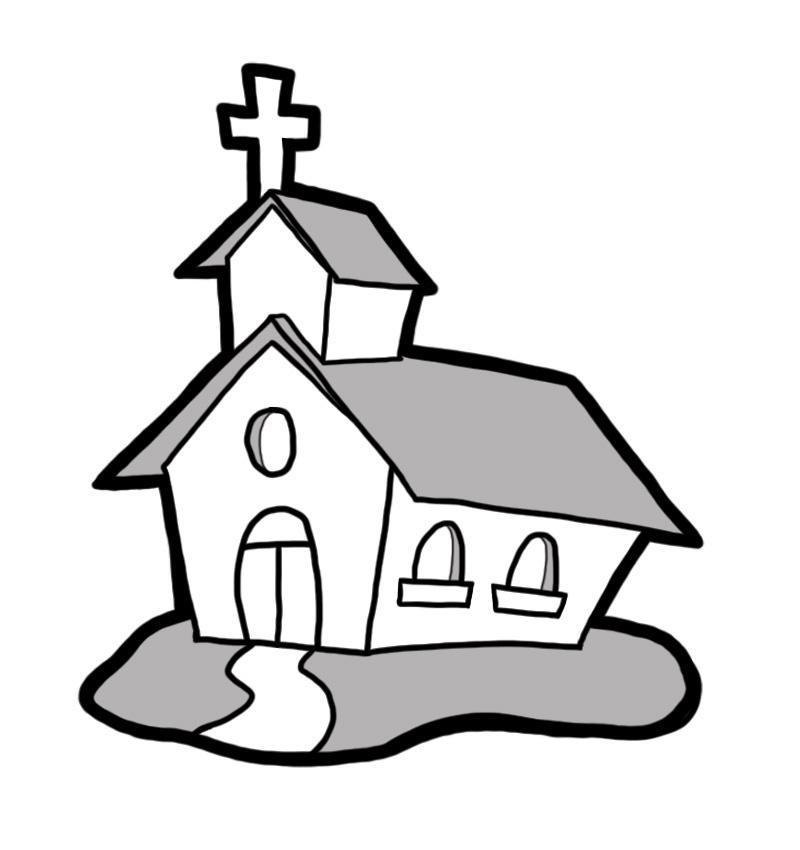 Clipart church building.