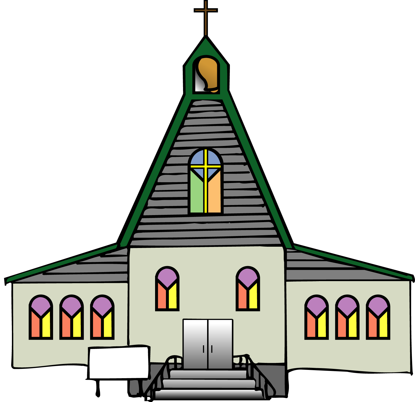 New Church Building Clipart.