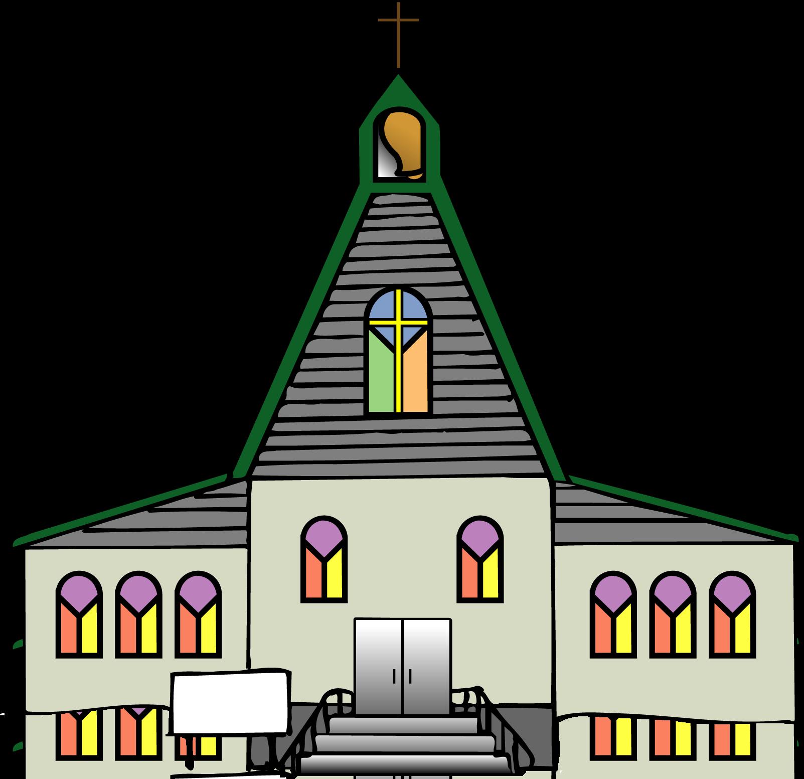 New Church Building Clipart.