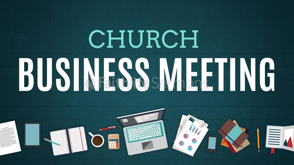 Illustrated Church Business Meeting.