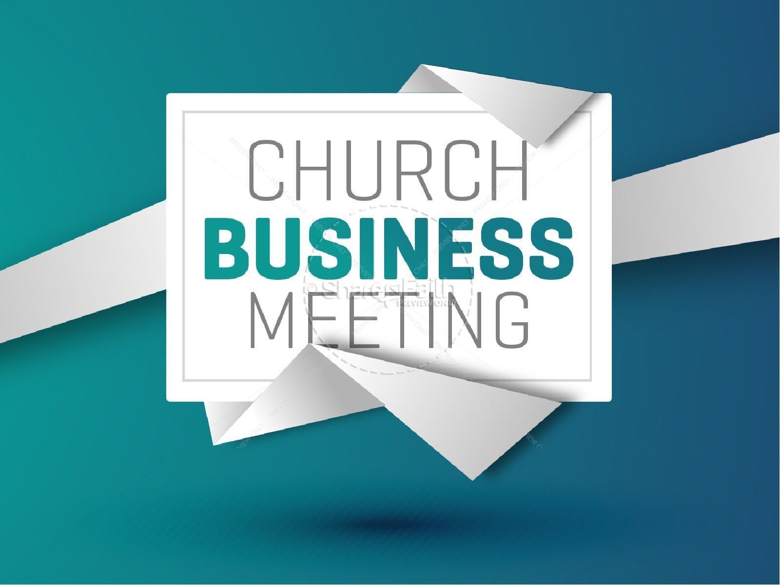Church Business Meeting Christian Powerpoint.