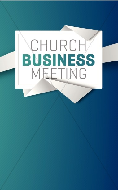 Church Business Meeting Christian Bulletin.