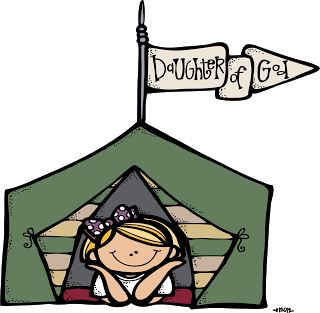 Girls Camp Illustrations.