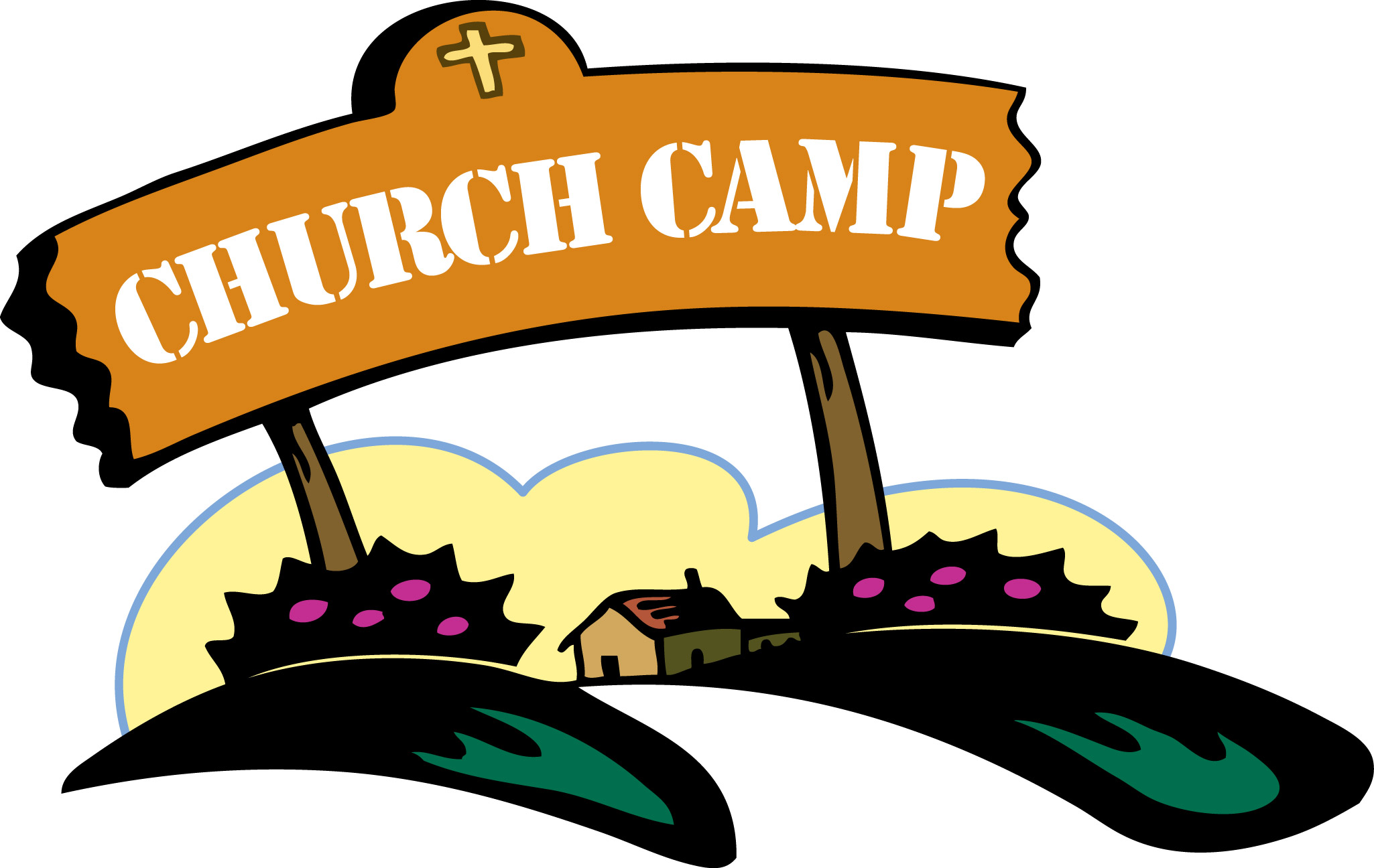 Clipart of the Church Camp free image.
