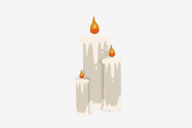 Halloween Candle Church Teacher, Fire, Hope, Hand Painted PNG.