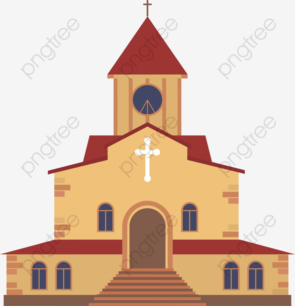 Coffee Cartoon Church, Cartoon Clipart, Church Clipart, Coffee PNG.