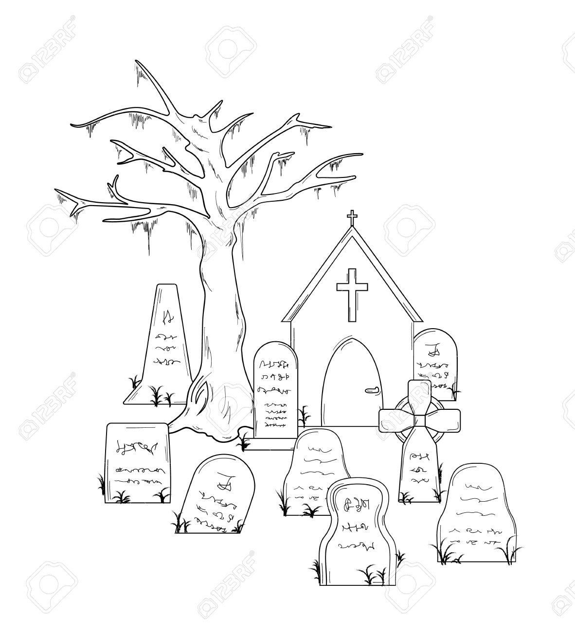 404 Cemetery free clipart.