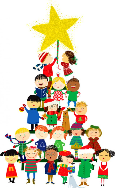 Kids Christmas Party Clipart.