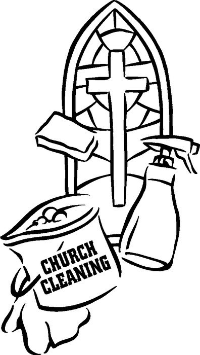 Church Clean Up Day Clip Art N3 free image.