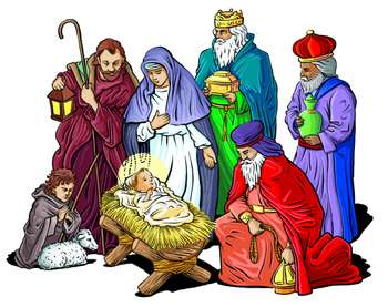 Religious Christmas Day Clipart.