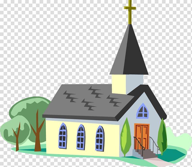 White and gray church illustration, Christ Holy Church Faith.