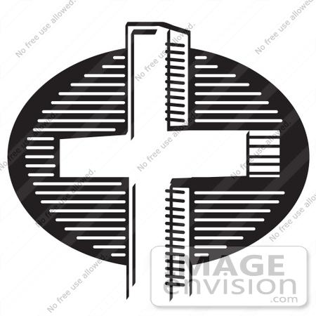 Clip Art of a Church Cross.