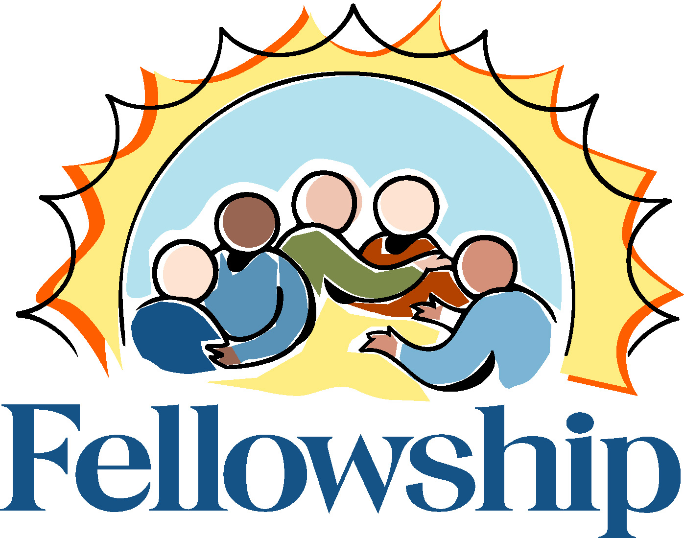 Church Fellowship Dinner Clip Art free image.