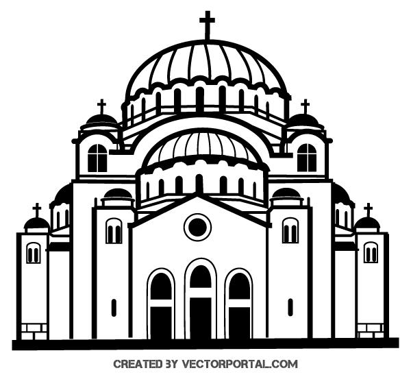Church Vector Clip Art.