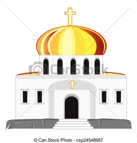 Vector of Church with dome.