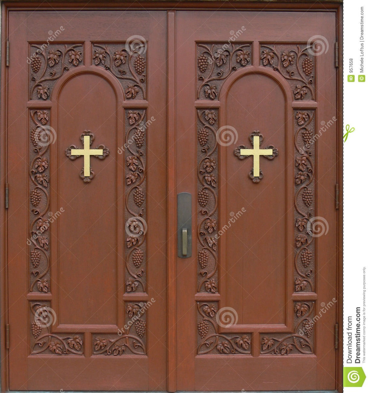 Church door clipart.