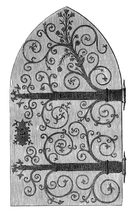 Gothic church door.