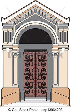 EPS Vectors of Church door.