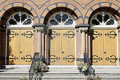 Church Doors Royalty Free Stock Photos.