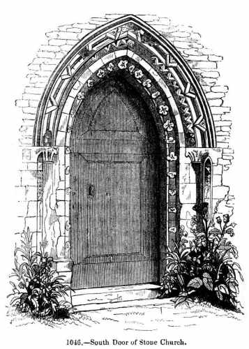 Open church door clipart.