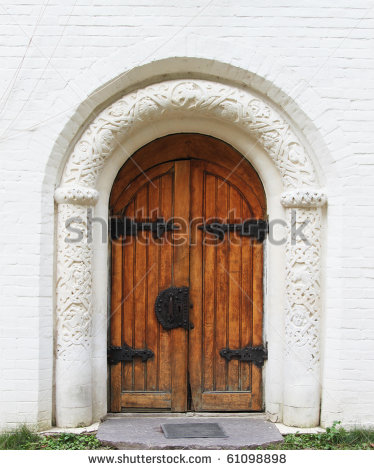 Old Church Doors Clipart.