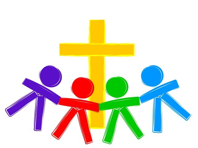 Church family and friends clipart.