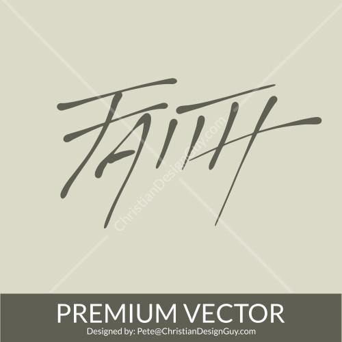 PREMIUM Faith Font Christian Vector Church Clipart.