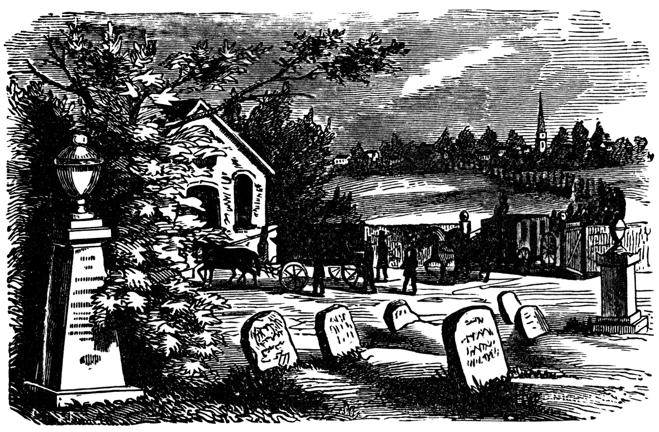 Graveyard Clipart.