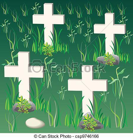 Clip Art Vector of cemetery csp9746166.