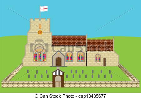 Vectors Illustration of English Church.