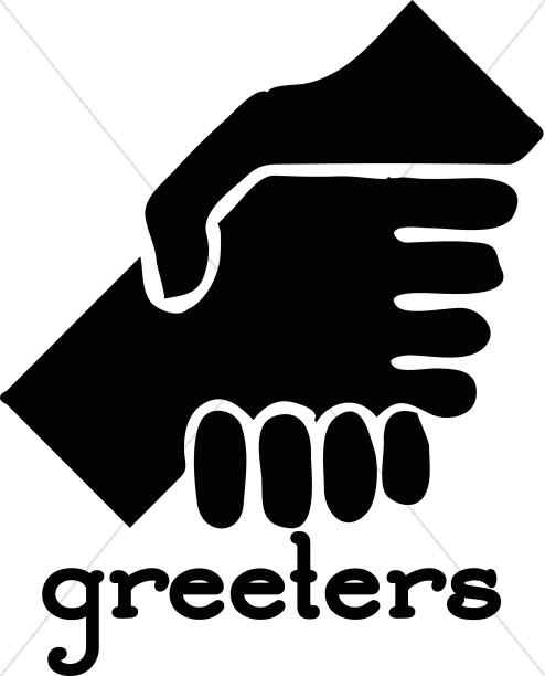 Greeters Handshake.